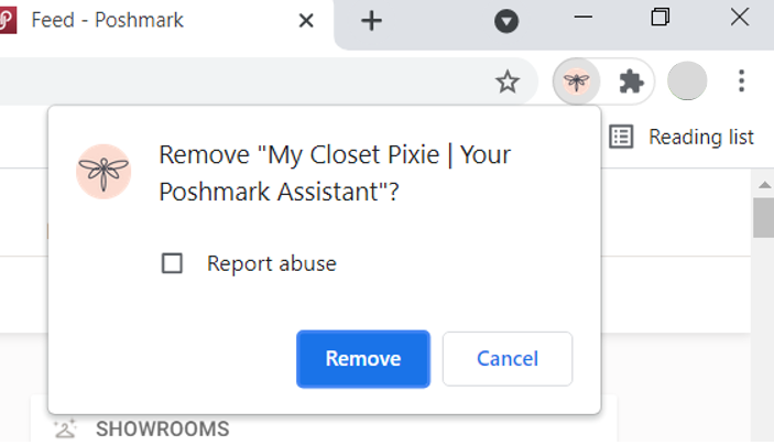 My Closet Pixie remove from Chrome step 2